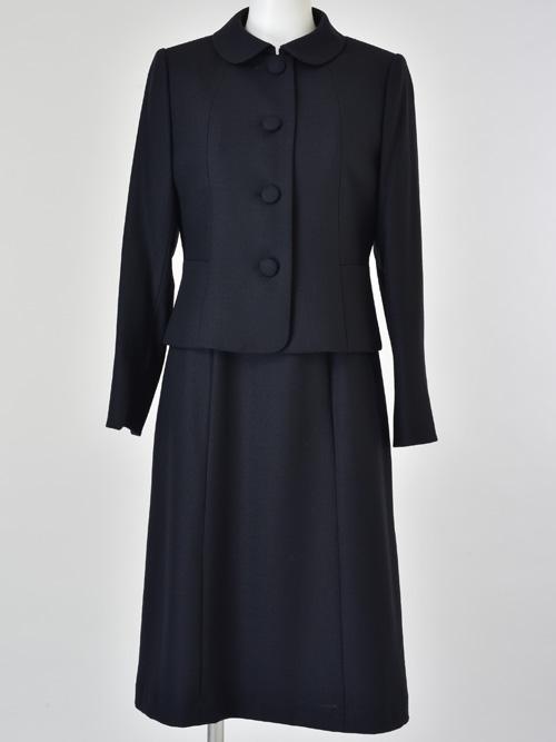 d3727dc24c2ea ... ウール100%ステンカラー四つボタンジャケットアンサンブル ジャケット+ワンピース [お受験スーツ (160711490).  アイテムイメージ. アイテムイメージ